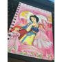 Cuaderno Anotador Disney Princesas--espiral-hojas A Color