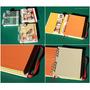 Cuaderno Artesanal Hojas Colores Frida Khalo Pin + Señalador