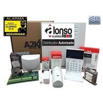 Kit Alarma A2k8 Alonso Inalambrica Control Telefonico