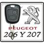 Llave Con Telemando Para Peugeot 207 Original ! ! !