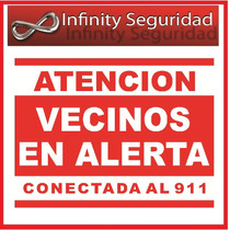 Cartel Alarma Vecinal Disuasivo 30x40cm Zona Oeste