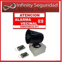 Kit Alarma Sirena Vecinal / Barrial Completa 200mts Alcance