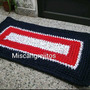 Alfombra Crochet Totora .60 Cm X 40 Cm