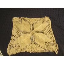 Funda De Almohadon Tejida Al Crochet Color Beige