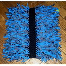 Alfombra De Totora Tejida Al Crochet Con Flecos