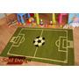 Carpeta Alfombra Infantil Cancha Futbol 66 X 120cm Fundasoul
