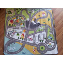 Carpeta Alfombra Infantil Pista Calles 133x140cm Decor