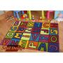 Carpeta Alfombra Infantil Letras 80 X 120 Cm Linea Fundasoul