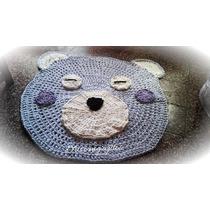 Alfombra Infantil Crochet Totora . 1 Metro De Diametro