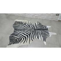 Alfombra Cuero Vaca Impreso Zebra - Tigre - Leopardo.