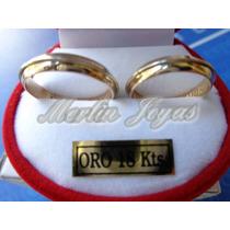Alianzas Oro 18k Con Hilo Oro Blanco-11 Gramos-merlin Joyas