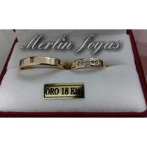 Alianzas De Oro 18k Modelo Exclusivo- 6 Gramos - M. J. -