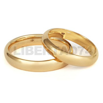 Alianzas De Oro 4 Gr 18 K Cinta 1/2 Caña Italiana Libertad74