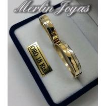 Alianzas De Plata 950 Y Oro 18k - M. J. -