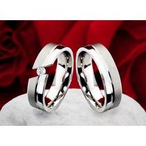 Alianzas- Bodas- Matrimonios- Acero-oro 18 Kt-san Valentin