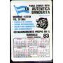 * Calendario De Bolsillo - 1982 - La Autentica Banderita