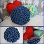 Almohadon Tejido Crochet Hilo Algodón Ayquéamor! 25x25 Cm