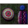 Almohadon Tejido En Telar Y Crochet Doble Frente