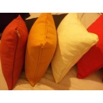 Almohadon Tela 40 X 40 Con Cierre ---colores Varios!!