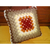 Funda Para Almohadón Tejida Al Crochet