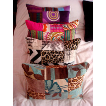 Almohadones Decorativos Patchwork 40x30 Funda + Relleno