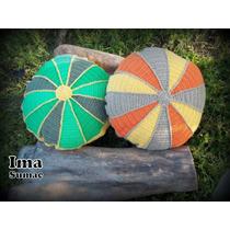 Almohadones Tejidos Al Crochet Artesanales