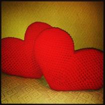 Tejidos Artesanales A Crochet: Almohadon Corazón!