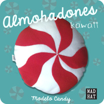 Almohadon Peluche Candy Caramelo Dulce Kawaii Cute Cojin