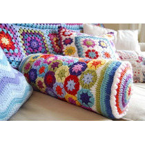Almohadon Caramelo Al Crochet - Tejidos Artesanales
