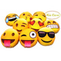Almohadones Decorativos Caritas De Emoticones Whatsapp 23 Cm