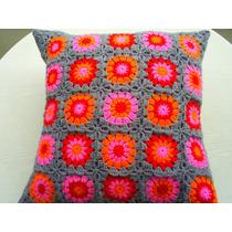Almohadon Al Crochet - Tejidos Artesanales