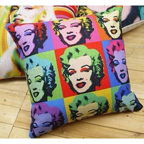 Almohadon Marilyn Monroe Colores Deco Pop Art