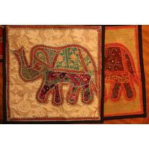 Funda De Almohadones Patchwork Elefantes De La India