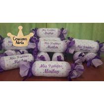Souvenir 15 Años, Almohadon Caramelo Personalizado