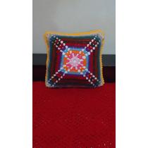 Almohadón Crochet Tejido En Ambas Caras Incluye Almohadón A4