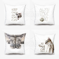 Almohadones Sublimados Diseño Original Unicos Gatos
