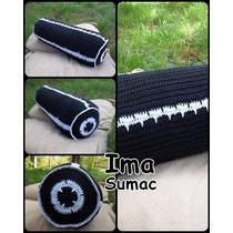 Almohadon Cilindrico Tejido En Crochet