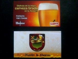 Alquiler De Choperas De Cerveza Isenbeck Wars Cerveza Tirada