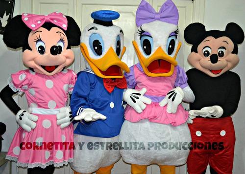 Alquiler Muñecos Cabezone Minion, Peppa,pocoyo, Mickey Minie