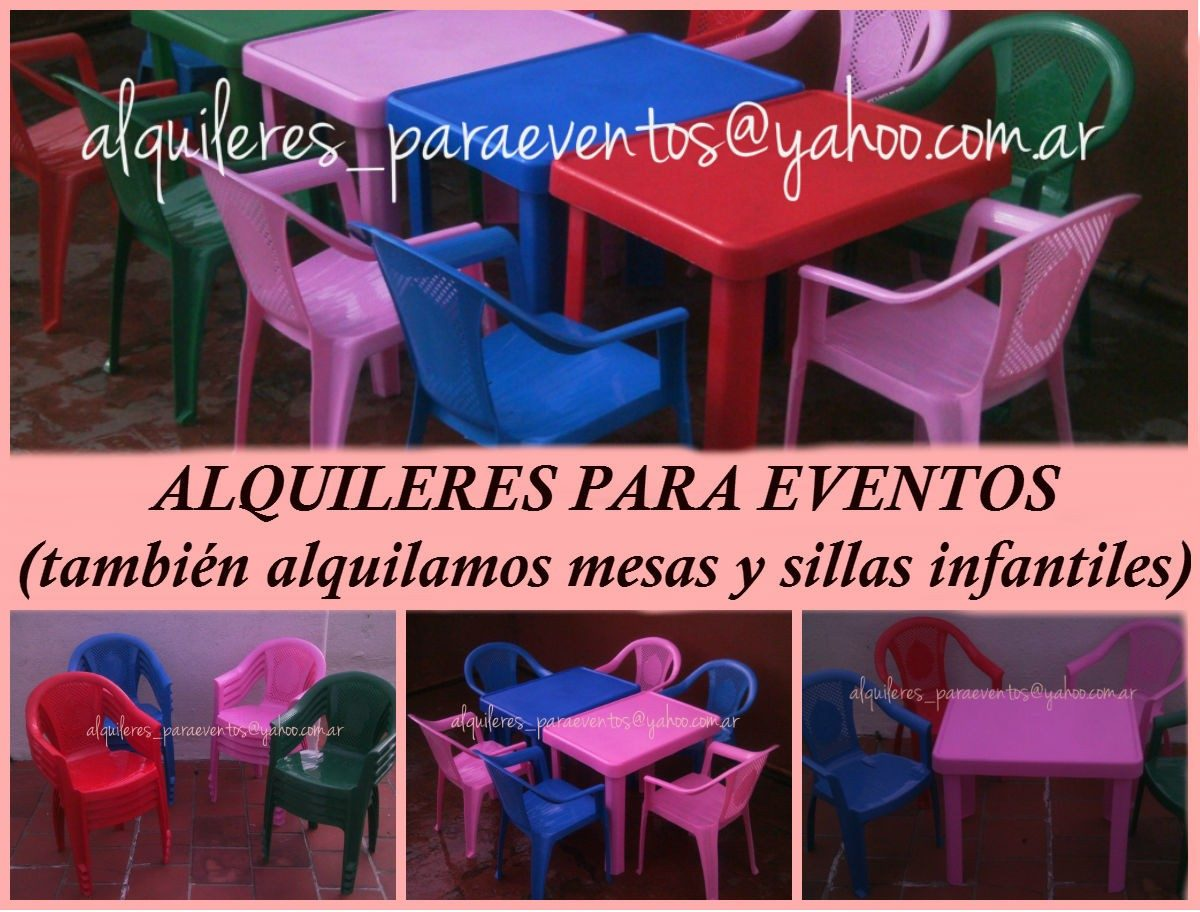 Alquiler sillas mesas manteleria y vajilla avellaneda for Mercado libre mesas y sillas