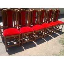 Muebles De Algarrobo Sillas Tapizadas!!!!!!!