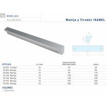 Manija Isabel De Aluminio 128mm Herrajes Para Muebles