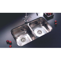 Pileta Bacha Doble Cocina Johnson Acero Inoxidable C37/18