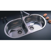 Bacha/pileta Dn1a De Acero Inoxidable Dobles De Johnson