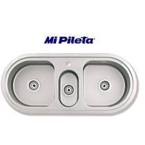 Bacha Cocina Mi Pileta Modelo 503e Triple Encastrable