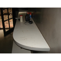 Flamante Mesada Melamina Blanca Mide 40 Cms X 260