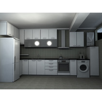 Arquitectura + Carpinteria, Amoblamiento Cocina Mel Aluminio