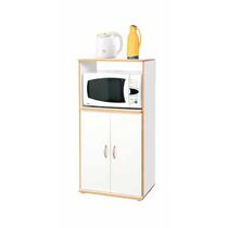 Mueble Para Microondas Puertas Y Estante Platinum Mod. 3046