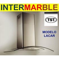 Campana Cocina Lacar Cristal Tst 90cm Acero Inox.st Y Vidrio