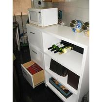 Mueble Unico P/cocina Con Tres Cajones-organizador-guardado